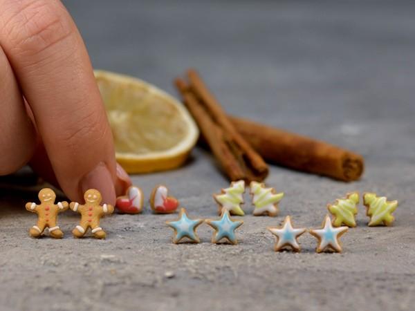 Uhani Royal Icing Srčki