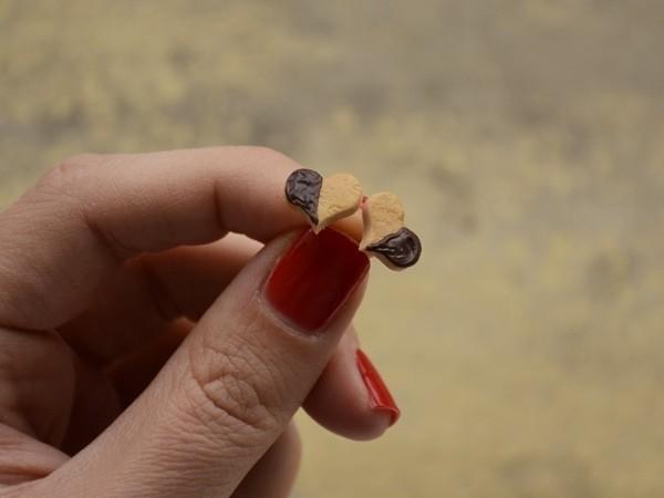 Mali uhani Čoko Srčki
