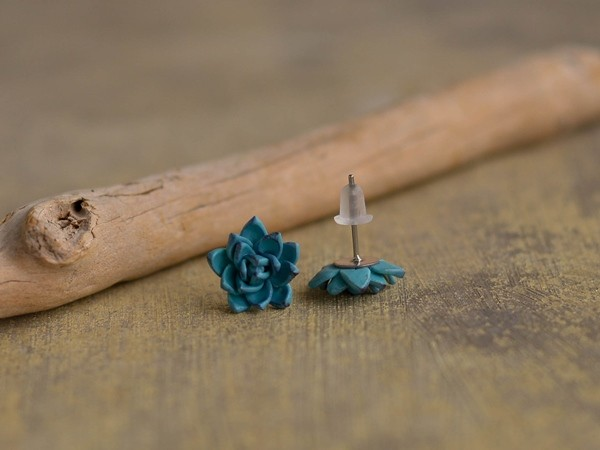Mali uhani Modri netreski