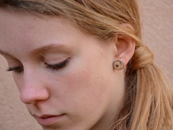 Srčni mali uhani