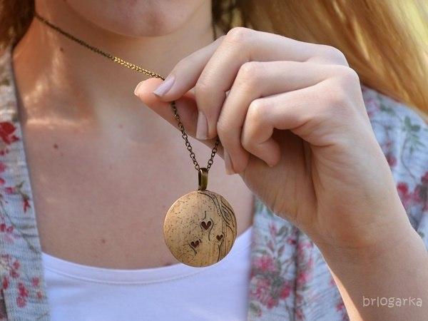 Medaljon na ogrlici Srčna Amazonija