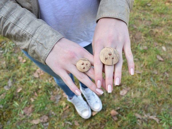 Imitacija lesa - prstan