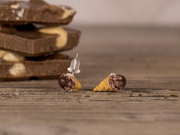 Uhani Sladoled Čokolada