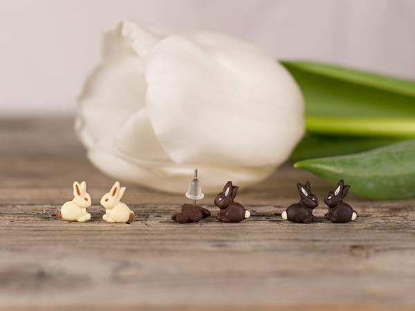 Uhani Čokoladni zajčki