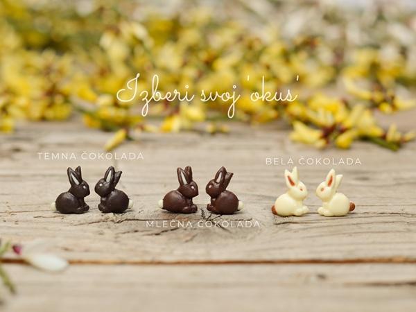 Mali uhani Čokoladni zajčki