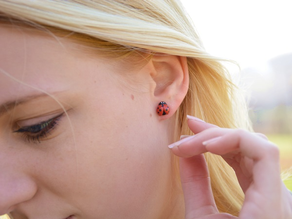 Pikapolonice - mali uhani